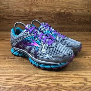 Brooks GTS 17 Silver Athletic Trail Running Shoes